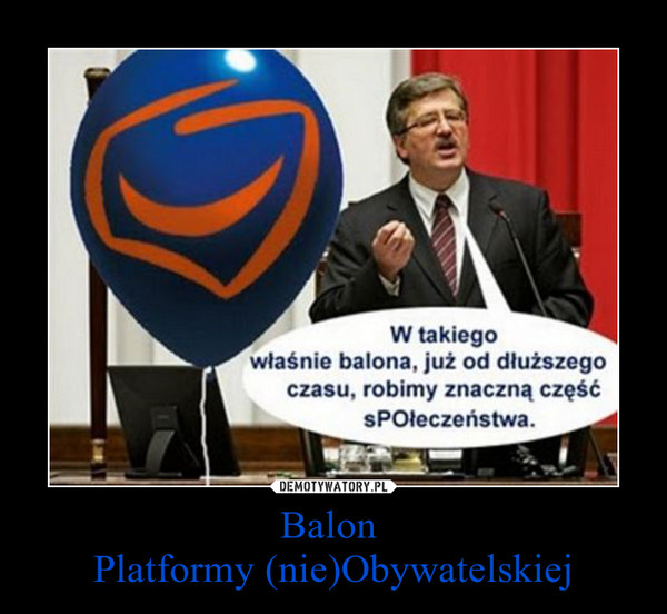 Balon Platformy (nie)Obywatelskiej –