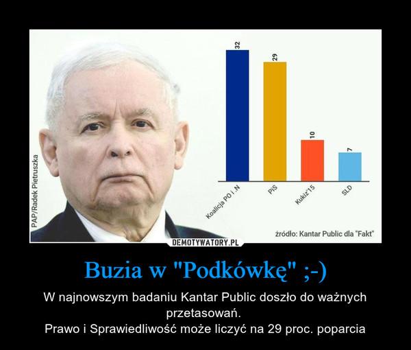 """Buzia w """"Podkówkę"""" ;-) – W najnowszym badaniu Kantar Public doszło do ważnych przetasowań. Prawo i Sprawiedliwość może liczyć na 29 proc. poparcia"""