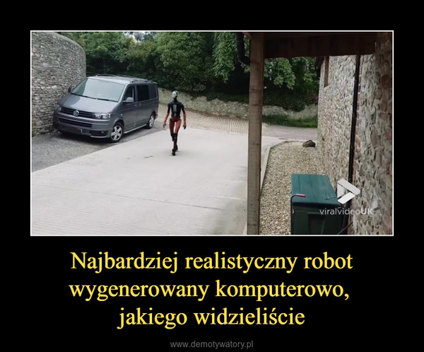 Najbardziej realistyczny robot wygenerowany komputerowo, jakiego widzieliście –