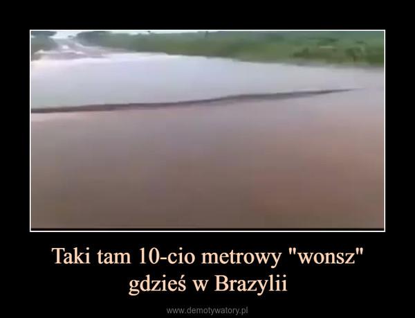 """Taki tam 10-cio metrowy """"wonsz""""gdzieś w Brazylii –"""