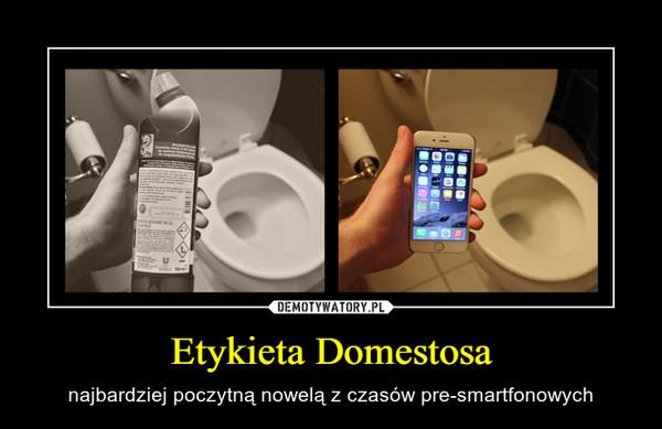 Etykieta Domestosa – najbardziej poczytną nowelą z czasów pre-smartfonowych