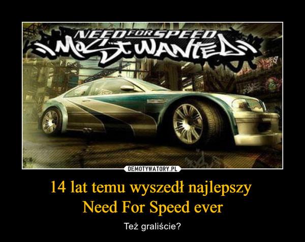 14 lat temu wyszedł najlepszy Need For Speed ever – Też graliście?