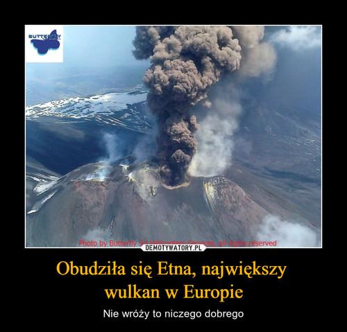 Obudziła się Etna, największy  wulkan w Europie