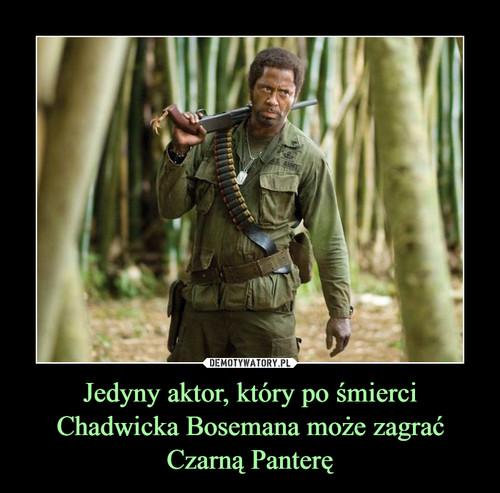 Jedyny aktor, który po śmierci Chadwicka Bosemana może zagrać Czarną Panterę