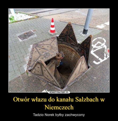 Otwór włazu do kanału Salzbach w Niemczech