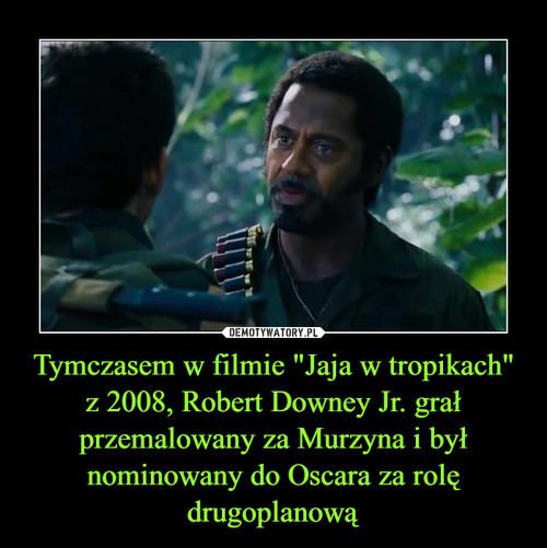 """Tymczasem w filmie """"Jaja w tropikach"""" z 2008, Robert Downey Jr. grał przemalowany za Murzyna i był nominowany do Oscara za rolę drugoplanową"""