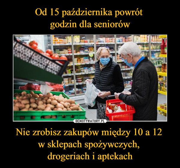 Nie zrobisz zakupów między 10 a 12 w sklepach spożywczych, drogeriach i aptekach –