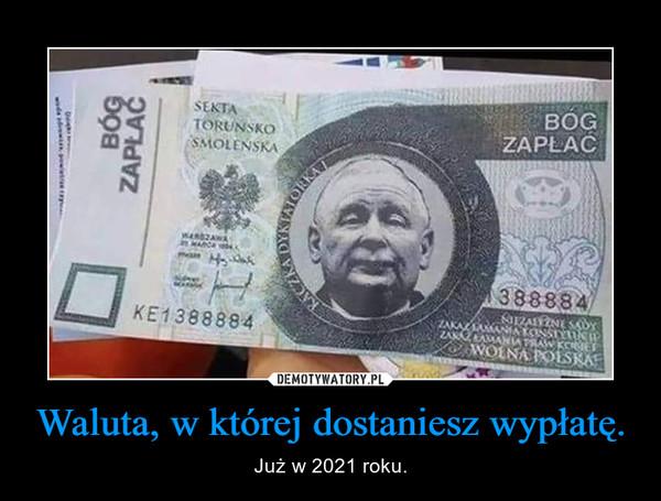 Waluta, w której dostaniesz wypłatę. – Już w 2021 roku.