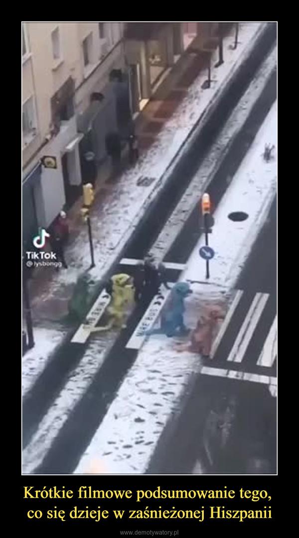 Krótkie filmowe podsumowanie tego, co się dzieje w zaśnieżonej Hiszpanii –