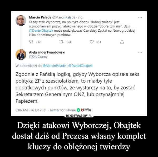 Dzięki atakowi Wyborczej, Obajtek dostał dziś od Prezesa własny komplet kluczy do oblężonej twierdzy