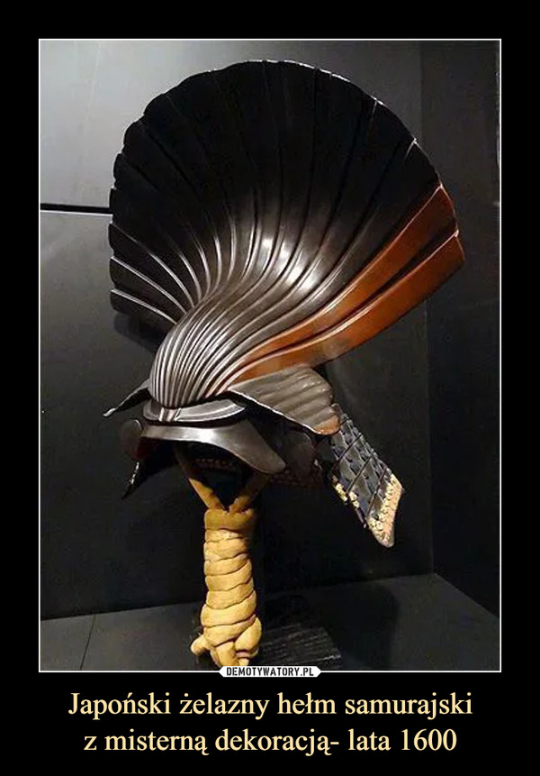 Japoński żelazny hełm samurajskiz misterną dekoracją- lata 1600 –