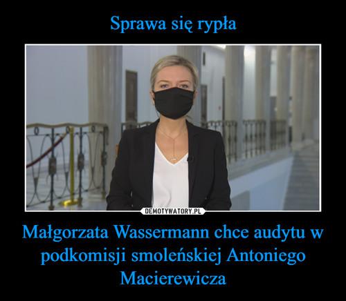 Sprawa się rypła Małgorzata Wassermann chce audytu w podkomisji smoleńskiej Antoniego Macierewicza