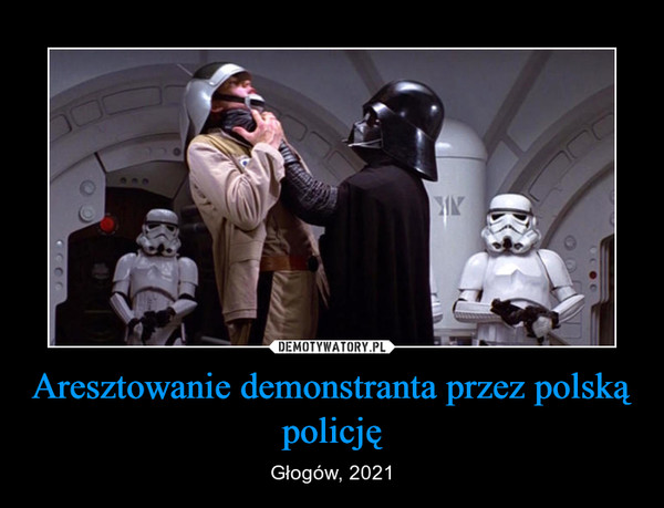 Aresztowanie demonstranta przez polską policję – Głogów, 2021