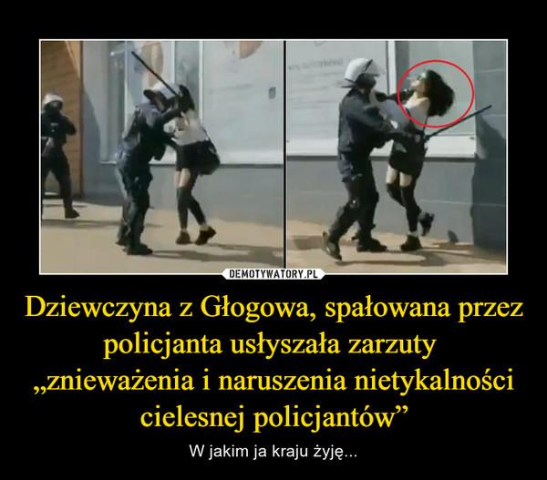 """Dziewczyna z Głogowa, spałowana przez policjanta usłyszała zarzuty  """"znieważenia i naruszenia nietykalności cielesnej policjantów"""" – W jakim ja kraju żyję..."""