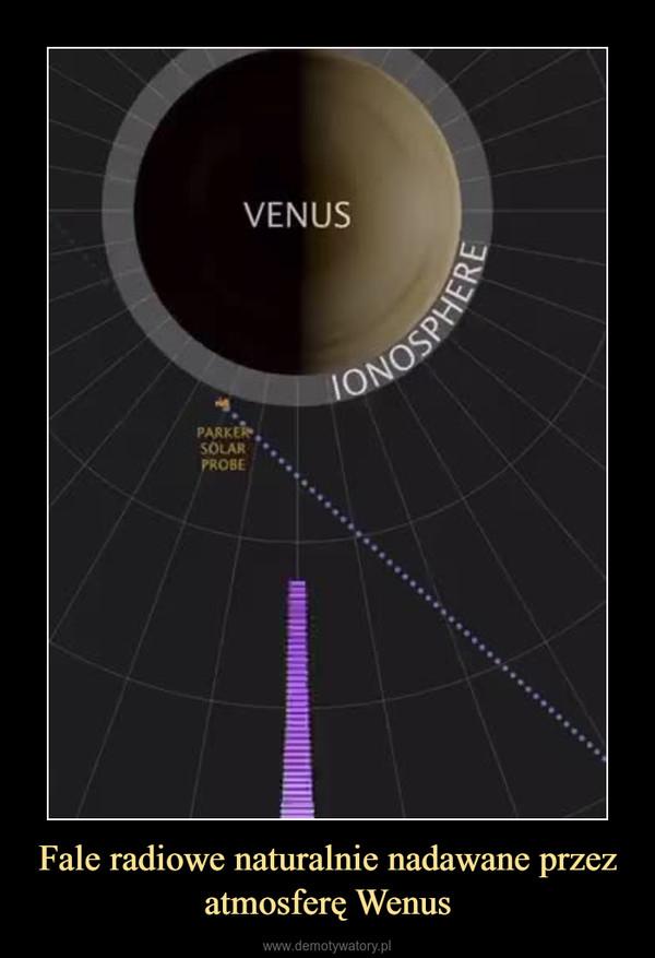 Fale radiowe naturalnie nadawane przez atmosferę Wenus –