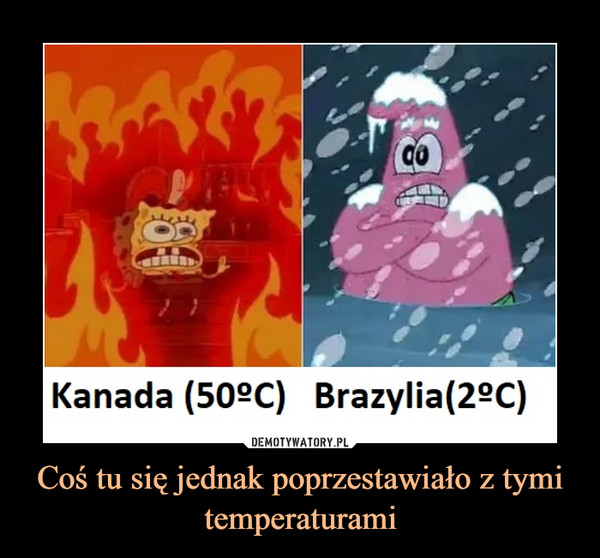 Coś tu się jednak poprzestawiało z tymi temperaturami –