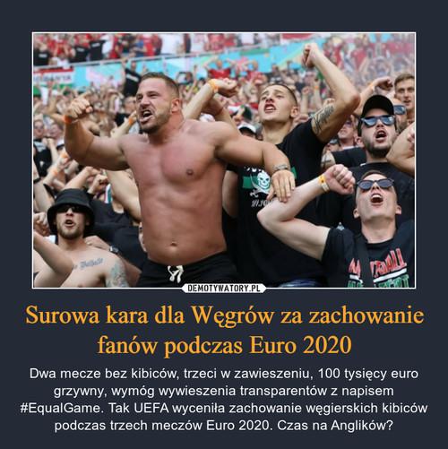 Surowa kara dla Węgrów za zachowanie fanów podczas Euro 2020