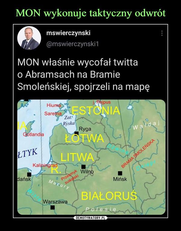 –  mswierczynski@mswierczynski1MON właśnie wycofał twittao Abramsach na BramieSmoleńskiej, spojrzeli na mapę