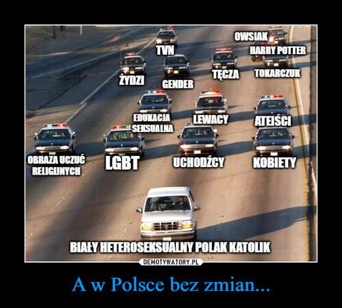 A w Polsce bez zmian...