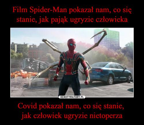 Film Spider-Man pokazał nam, co się stanie, jak pająk ugryzie człowieka Covid pokazał nam, co się stanie,  jak człowiek ugryzie nietoperza