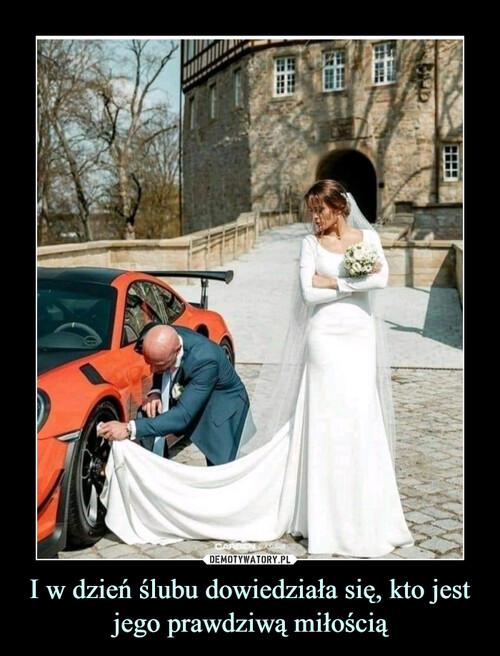 I w dzień ślubu dowiedziała się, kto jest jego prawdziwą miłością