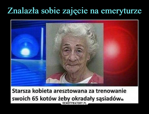Znalazła sobie zajęcie na emeryturze
