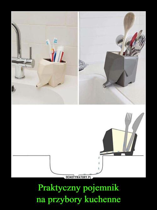 Praktyczny pojemnik na przybory kuchenne